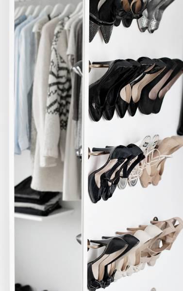 meuble chaussure fixer au mur