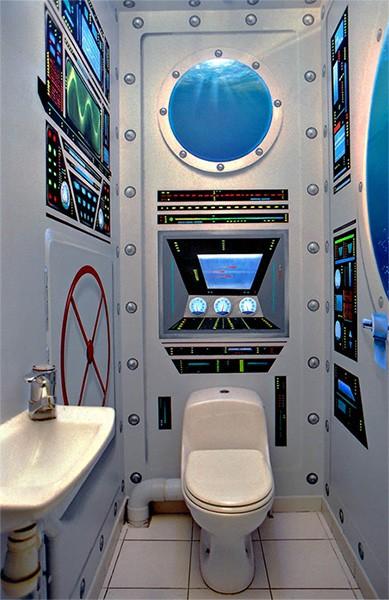10 id es d co pour faire des toilettes une pi ce super - Decoration des toilettes design ...