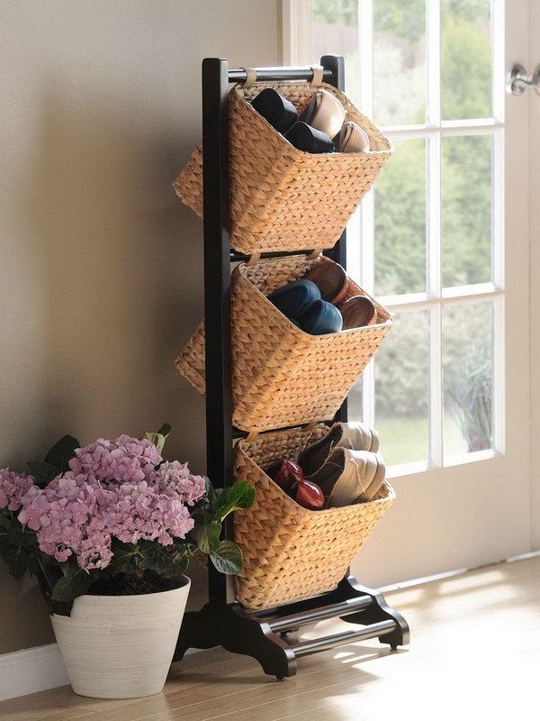 11 id es de rangement chaussure g niales astuces de filles - Astuces pour ranger les chaussures ...