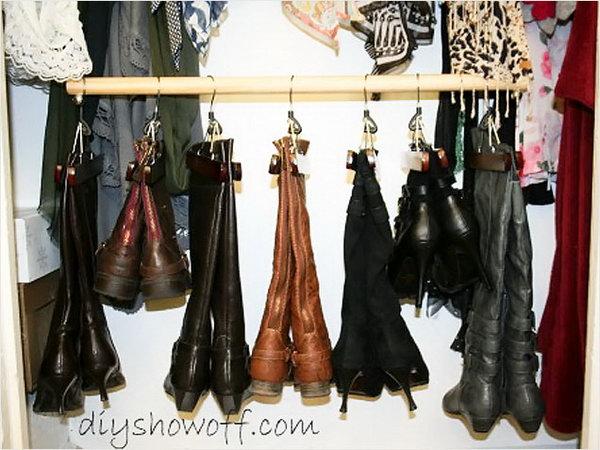 11 id es de rangement chaussure g niales astuces de filles - Astuce pour ranger chaussures ...