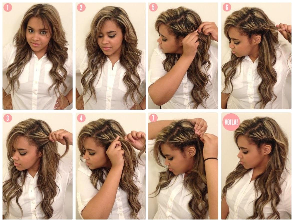 coiffure,facile,cheveux,long,