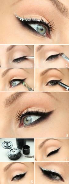2 Maquillage métallique