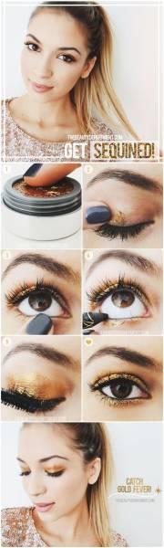 3 Maquillage métallique