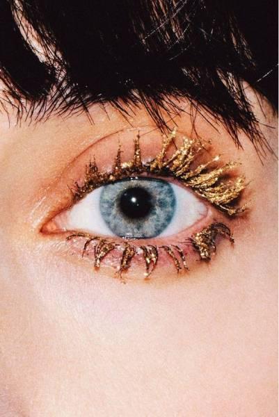 7 Maquillage métallique