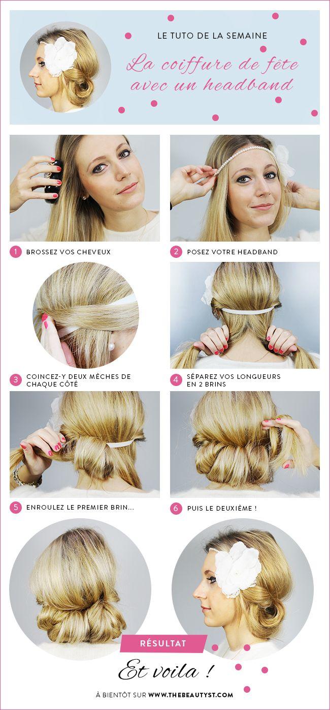 16 tutos de coiffures canons avec un headband   Astuces de filles