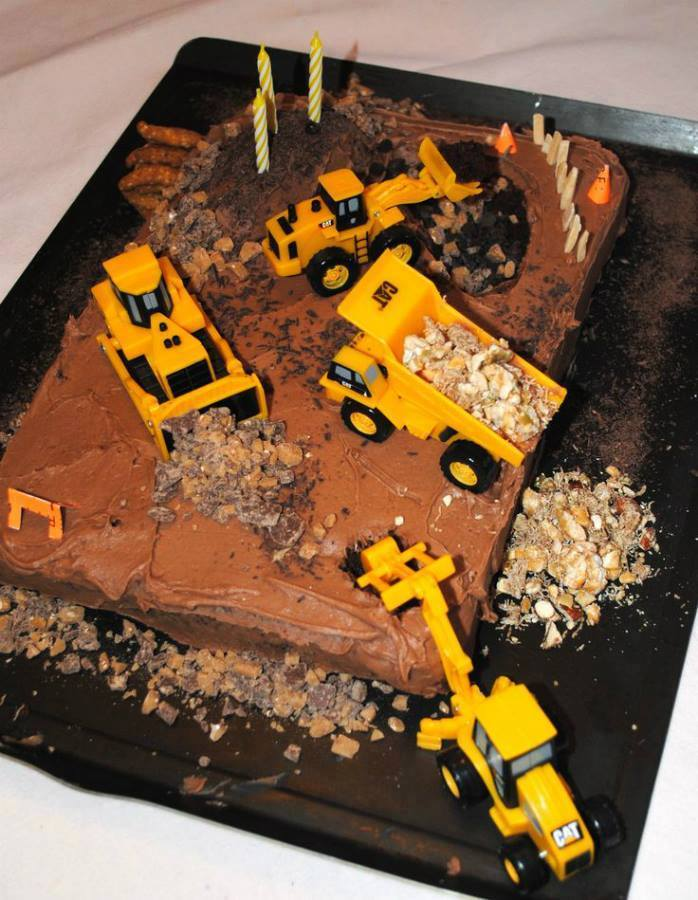 Pin Construction Site Cake Step By Instructions Kids Party