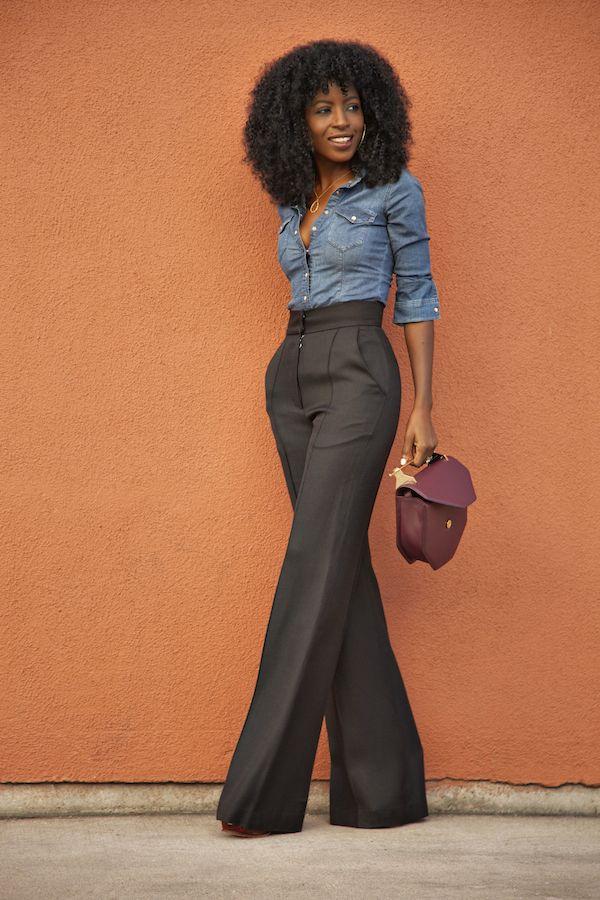 8 mani res de bien porter le pantalon taille haute. Black Bedroom Furniture Sets. Home Design Ideas