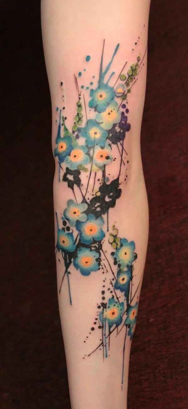 tatouage-bras-avant-bras-femme-myosotis