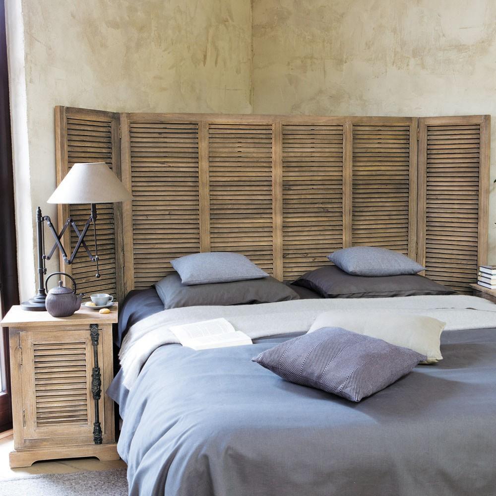 Tete de lit planche fabriquer une tete de lit en lambris - Tete de lit maison ...