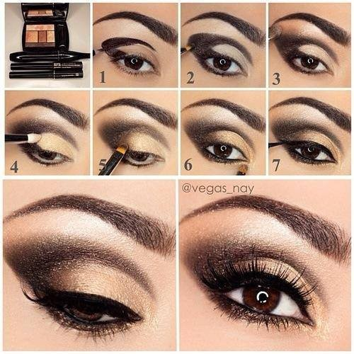 maquillage yeux pour noel